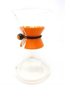 orange chemex collar facet design with bungee cord
