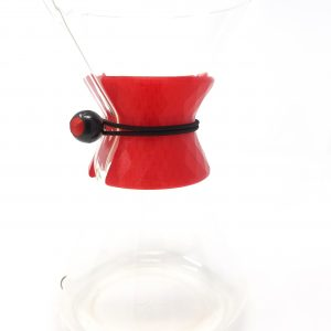 red chemex collar facet design with bungee cord